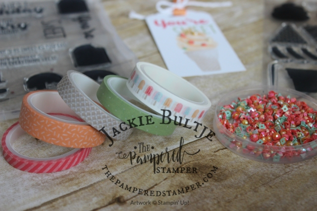 Cool Treats tag using watermelon wonder and pear pizzazz.