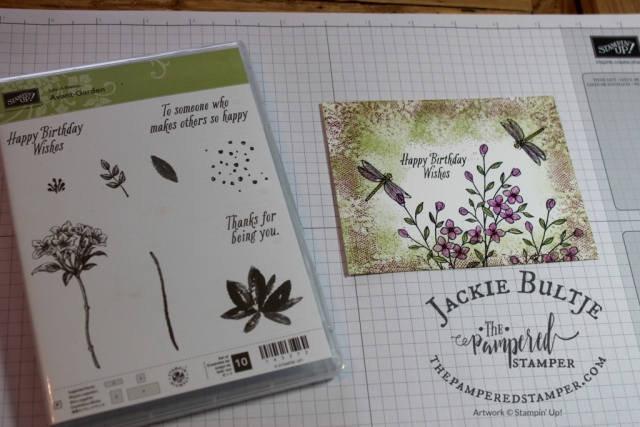 Avant-Garden combined with Touches of Texture- get your free sale-a-bration item with a $60 purchase in Canada. Visit www.thepamperedstamper.stampinup.net to order