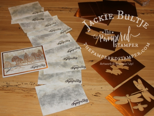 stretching your resources, cut out images behind your copper foil mats