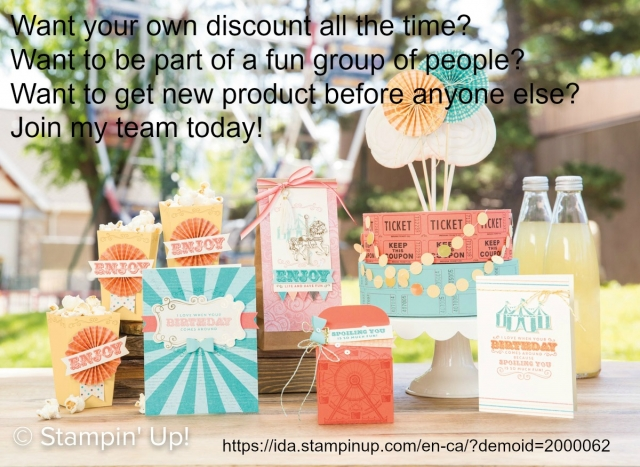 Get the Stampin'Up starter kit and join an amazing community of people. Fuel your creativity with your very own discount. If you live in Canada, you can join my team today. I would love to support you in your goals and dreams.
