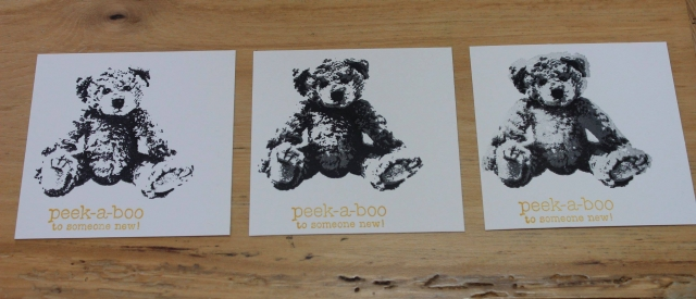 Baby Bear is a triple layer stamp, each layer adds more detail, but it is so easy with photopolymer stamps.