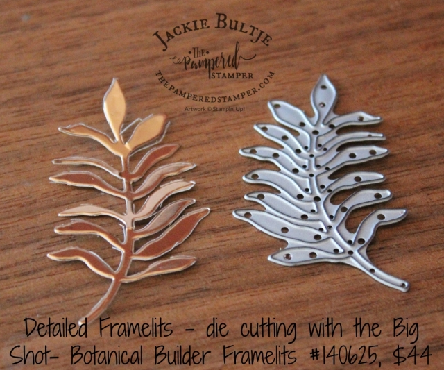 When using detailed framelits such as this one from Botanical Builder you get the best results with using the Precision Base Plate.