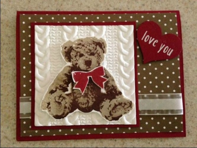 Baby Bear is super versatile and can be used for babies, weddings and Valentine's, even thinking of you cards.