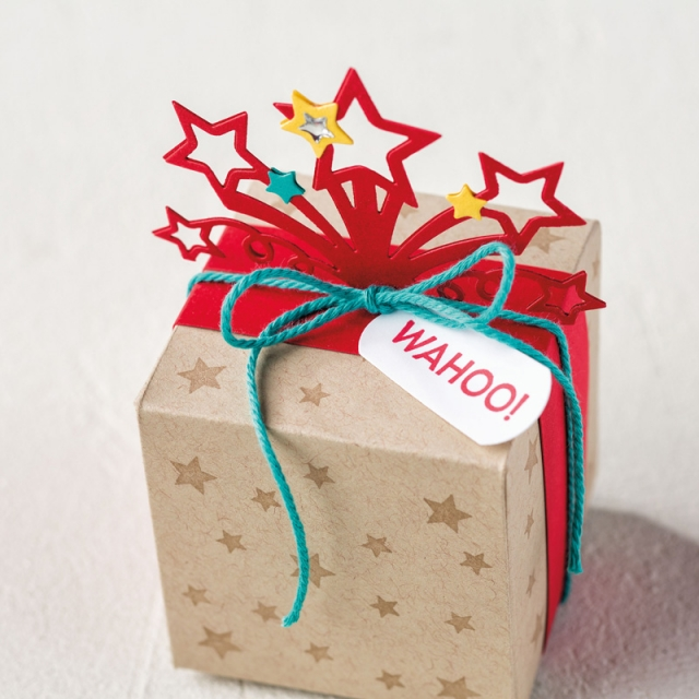 The star blast edgelit dies are great for making pretty presents as well as card elements or pretty Disney crowns.