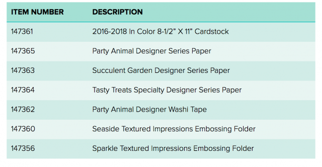 Some new catalog items have been added that you can choose as your sale-a-bration freebie with a $60 purchase.