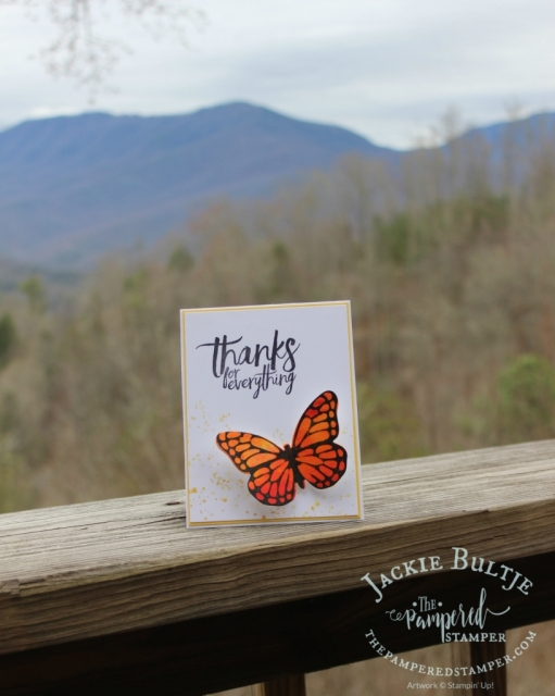Perfect card to make in the mountains.