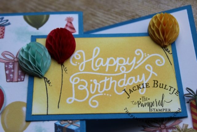 Look how pretty these honeycomb embellishments are! Birthday Memories Suite.