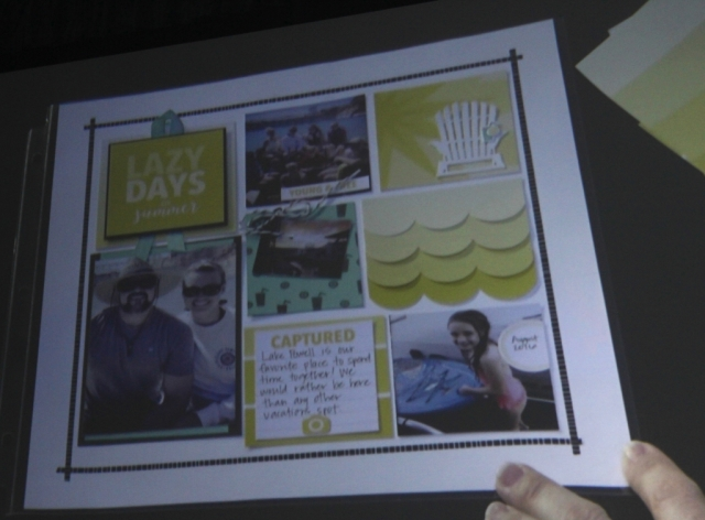Scrapbook page using Color Theory Suite.