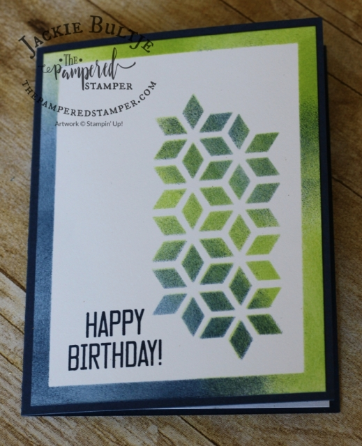 Great masculine card using one of the die cuts from Soft Sayings card kit.