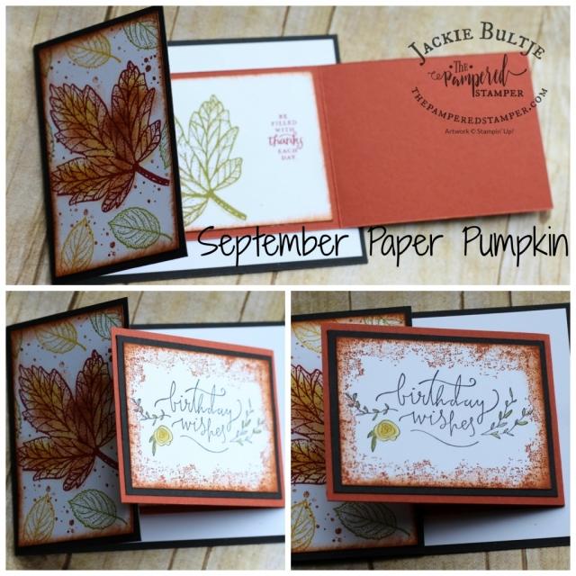 Joy-fold card using September Paper Pumpkin
