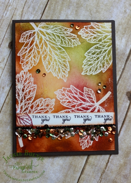 Emboss resist technique with Paper Pumpkin Layered Leaves