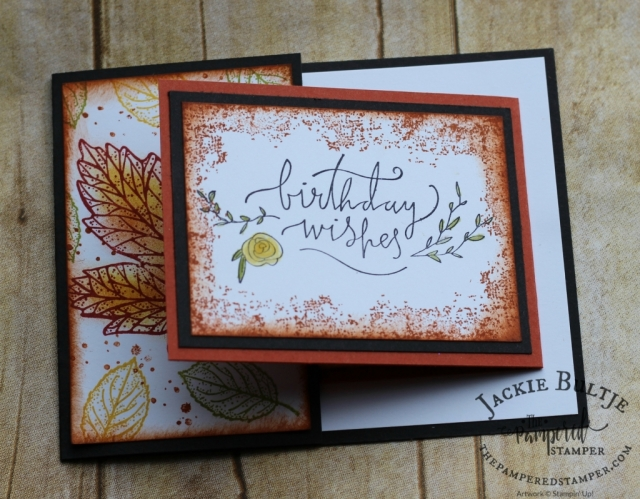 September Paper Pumpkin combined with Happiest of Days and Timeless Textures for a great joy-fold card