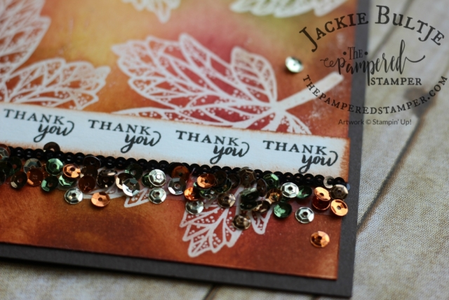 Season of Gratitude Paper Pumpkin October 2016 sequins