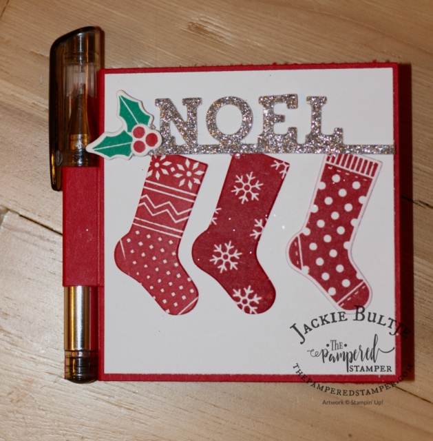 This post it note holder makes a great stocking stuffer or impromptu little gift.