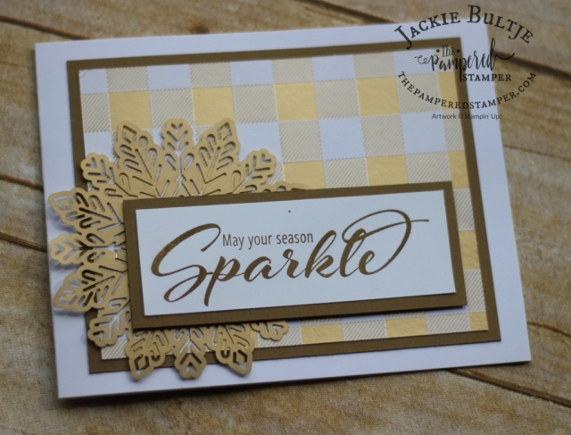 Foil snowflakes are the perfect easy accent for this card.