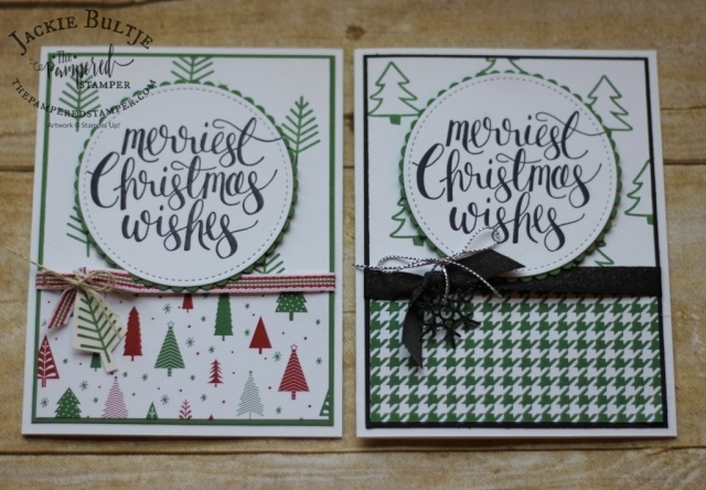 Mix and match paper and stamps for a simple Christmas card.