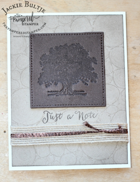 Lovely as a Tree and Tree Rings combine for a great gender neutral card.
