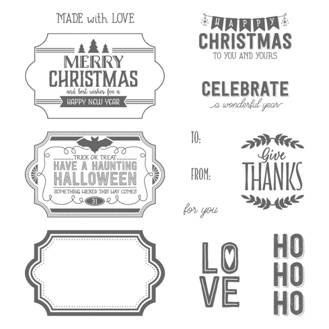 Labels to Love stamp set, 11 stamps for $28.