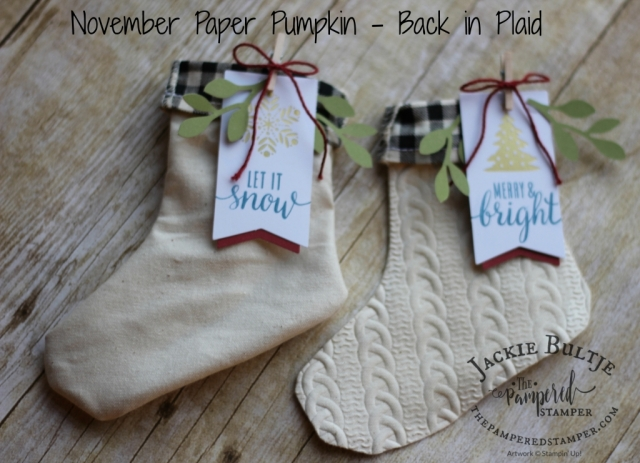 Paper Pumpkin stockings