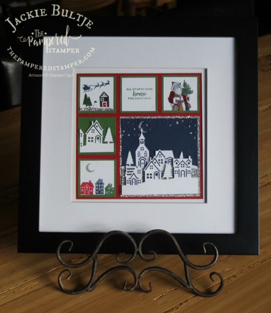 Hearts come home sampler in real red, garden green and night of navy with a touch of silver glimmer paper.