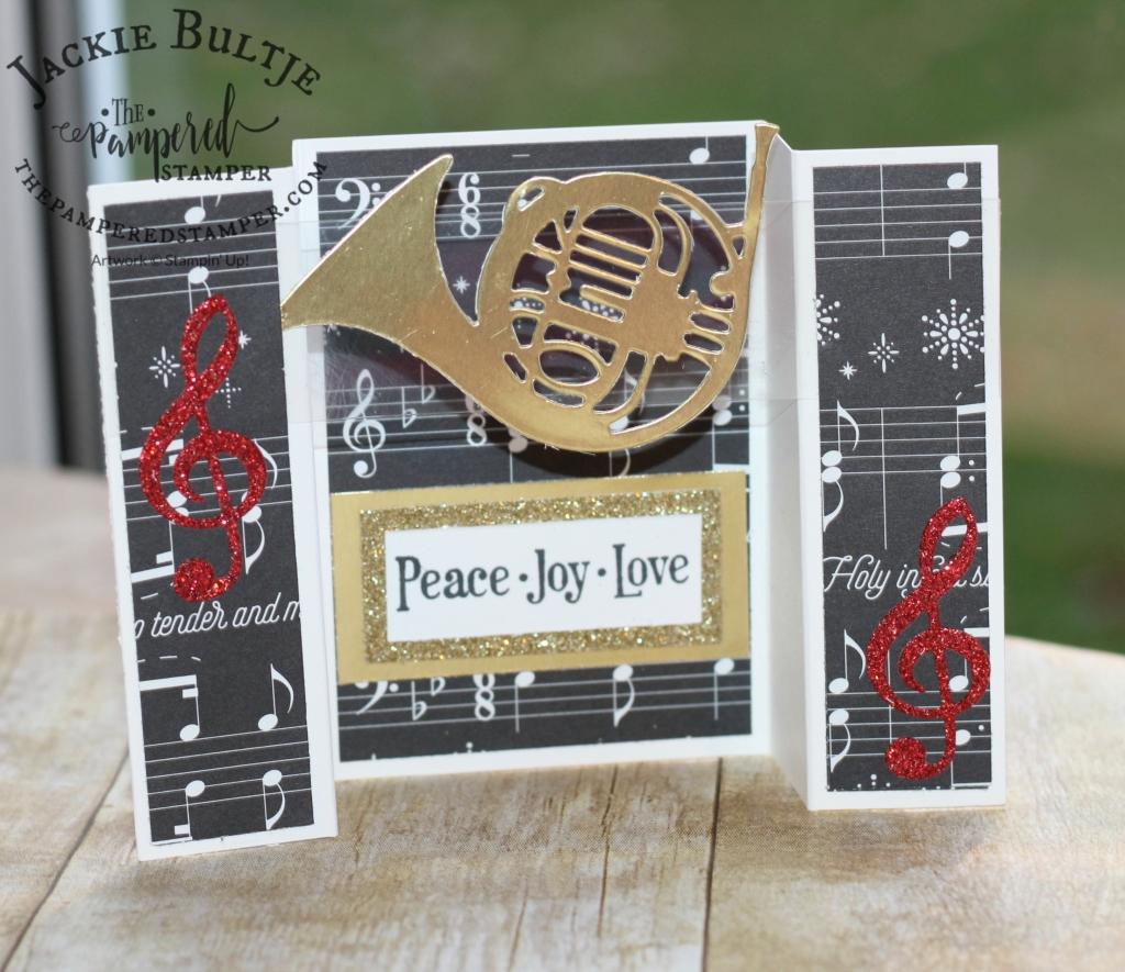 Musical Season Bridge Fold Card Using Merry Music Specialty Paper