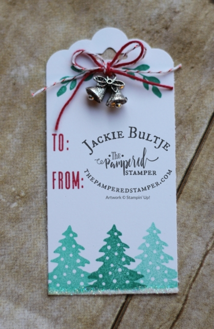 Scalloped tag topper punch with Paper Pumpkin Back in Plaid