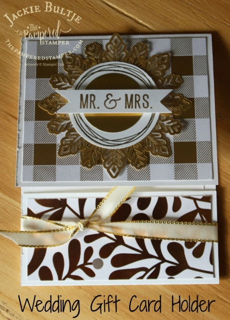 Wedding Gift Card holder using Year of Cheer specialty paper