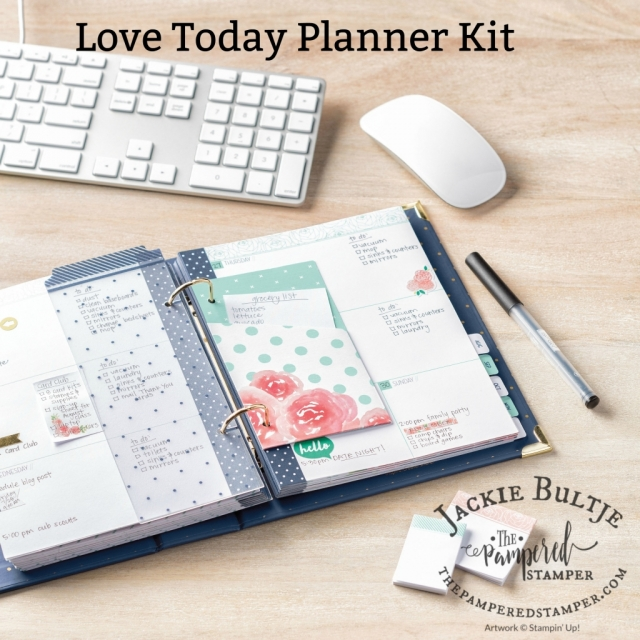 Love Today Planner from Stampin'Up! start your year off beautifully