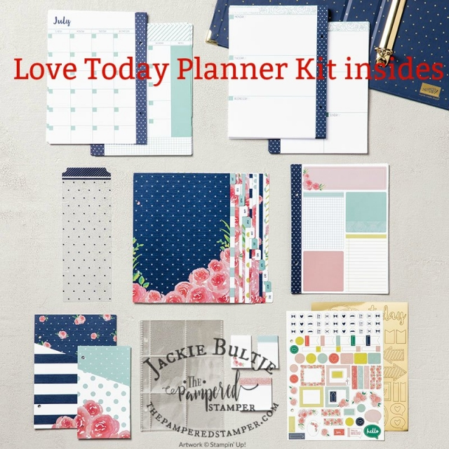 All the pretty pages, stickers and inserts for the planner