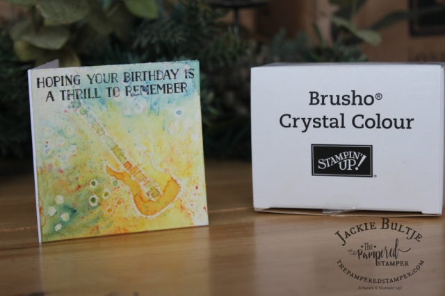Mossy Green Brusho helps you discover your inner artist