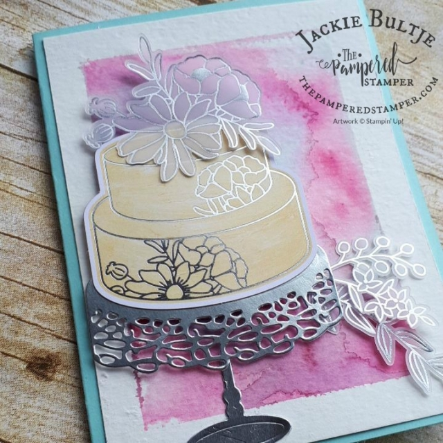 Vellum embellishments with Cake Soiree.