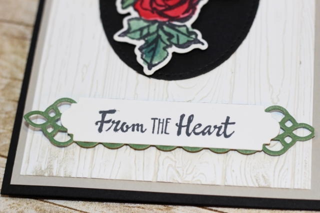 Here you can see the framelits from the Petal Palette bundle that I used for the sentiment