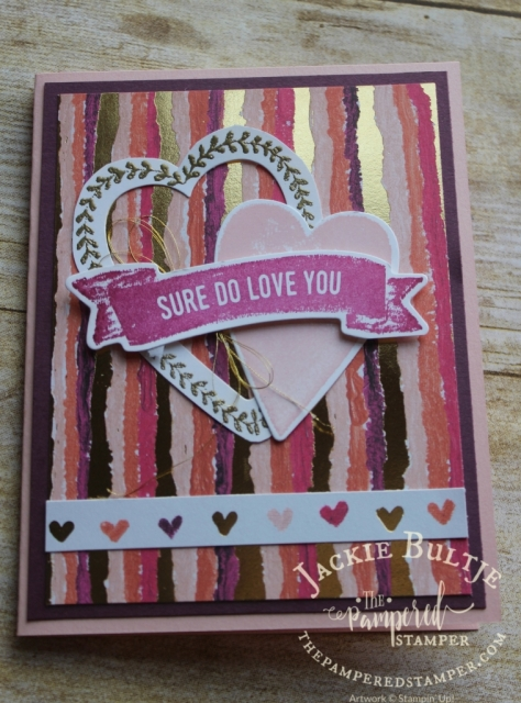 Painted with Love designer series paper really makes this Valentine's Day card shine!