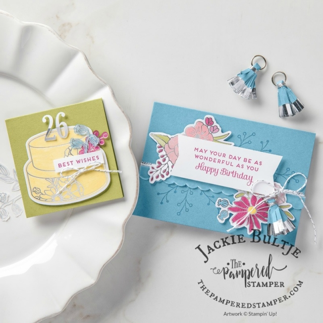 Stampin'Up image showing some of the embellishments with the Sweet Soiree suite