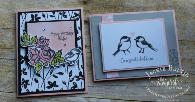 Love the little birds in this Petal Passion suite