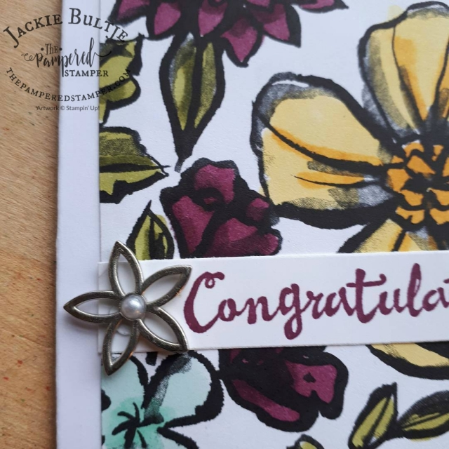 Just a little bling makes a big different to this Petal Passion card.