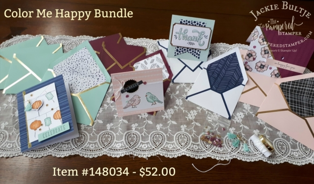 Fantastic coordination with the Color Me Happy bundle