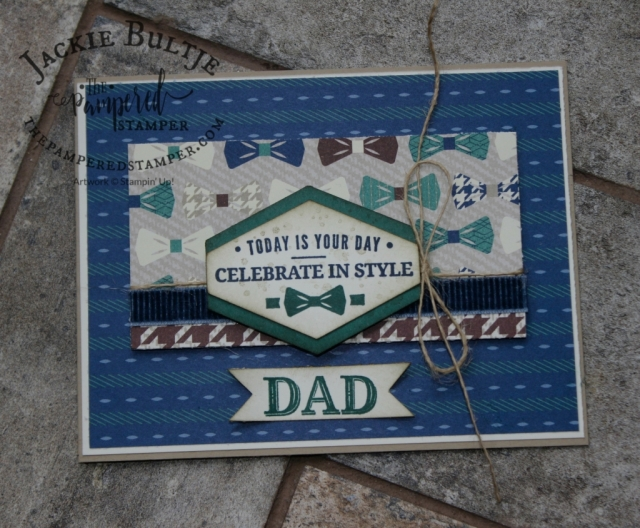 This somewhat busy card can be either for a birthday card or for father's day.