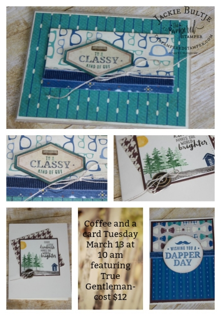 Coffee and a card samples March 13, 2018.
