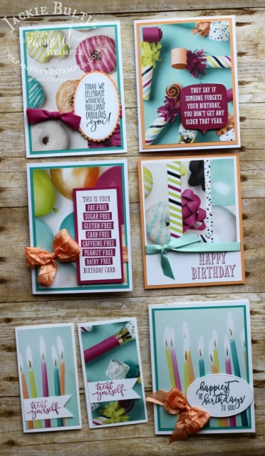 Picture Perfect Party suite combines with Birthday Wit for some quick and beautiful cards that are super easy to make.
