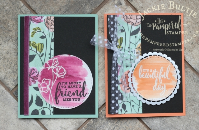 Emboss-resist colour wash on shimmer white cardstock using Gotta Have it All Bundle