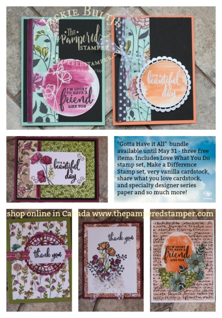 Here you can see at a glance all the different cards I made using the Gotta Have it All bundle.