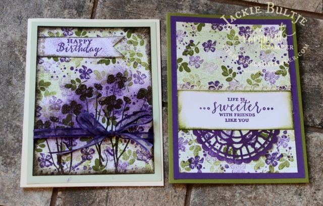Pressed Flowers is also great for Collage stamping and a great vintage look.