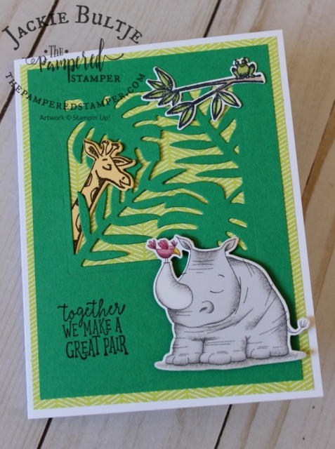 Animal Outing combines with Tropical Chic for this fun card.