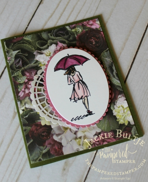 I used Rich Razzleberry and Pink Pirouette Blends to colour the images from Beautiful You.