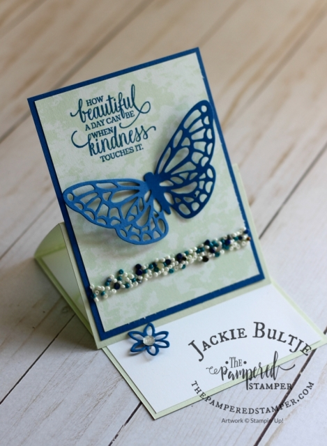 Tranquil Textures sprinkles add a nice touch to this Butterfly card using Springtime Expressions thinlets