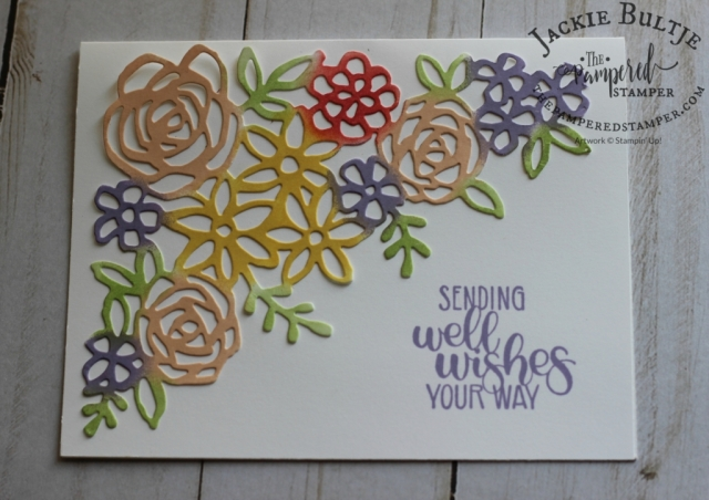 Use sponge daubers to colour your creation from Springtime Impressions framelits
