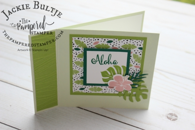 Matchbook style card using Tropical Escape.