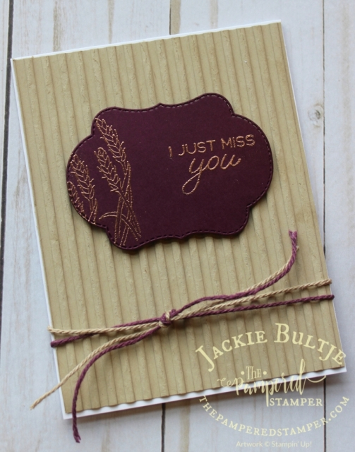 Corrugated dynamic textured embossing folder is a great match for the Blended Seasons bundle as well as copper embossing.