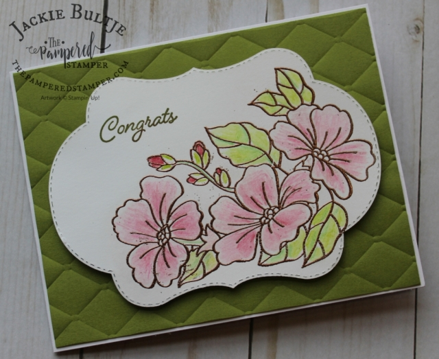 Copper embossing with the beautiful Blended Seasons and Tufted embossing folder.